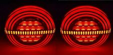 2x 12/24V LED Thin Round Rear Tail Lights Hamburger Lamps for Scania MAN Volvo