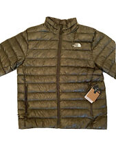 The North Face Sierra Peak Puffer Jacket Shiny Men M $249 New Taupe Green Shiny