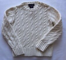 Ralph Lauren Girls Cable Sweater Pullover Ivory NEW