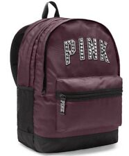 Victorias Secret PINK CAMPUS Backpack BLING DEEP RUBY SILVER STUDS - BRAND NEW