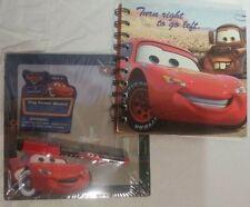Disney Pixar Cars Lightning McQueen Writing Pocket Notebook + Dry Erase Board