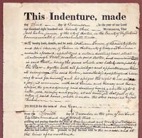 Original Document 1823 LEASE for Property in BOSTON, MASS. 3 MARLBOROUGH Street