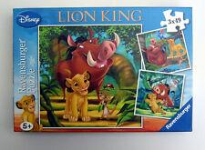 3 PUZZLES 49 PIECES EN CARTON:LION KING DISNEY