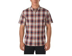 Vans Webster Burnt Ochre Short Sleeve Buttondown Shirt Size M