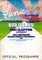 BOB DYLAN & ERIC CLAPTON 1978 PICNIC AT BLACKBUSHE CONCERT PROGRAM BOOK-EX 2 NMT