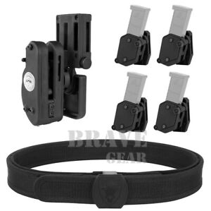 IPSC USPSA IDPA 3-Gun Competition Rig with Belt + Holster + 4PC Magazine Pouches