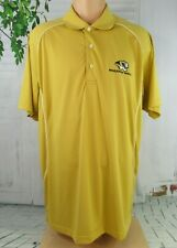 Page & Tuttle  men's size large golf polo rugby shirt gold Missouri tigers