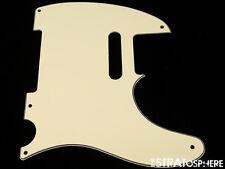 *NEW Vintage Cream Telecaster PICKGUARD for Fender USA Vintage Tele 3 Ply 5 Hole