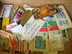 35 + VINTAGE SEWING NEEDLE BOOKS / PACKS ~ USED BULK LOT ~ CHECK THESE OUT !