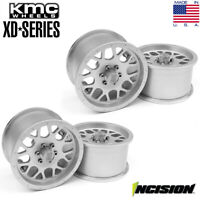 Incision Clear Anodized KMC 2.2 XD820 Grenade Beadlock Wheels Set of 4