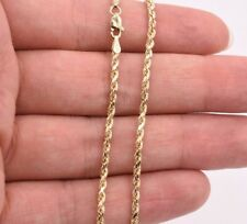 """2.5mm Twisted Rope Chain Ankle Bracelet Anklet Real 10K Yellow Gold 10"""""""