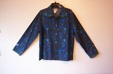 Women's COLDWATER CREEK Floral/Sequins Embroidered Jean Jacket - Size L