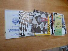 Konvolut ( 500 Gramm) Schachturnier-Programme aus Österreich ca. 1989-1995