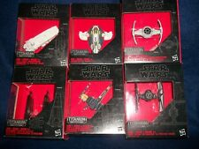 6 Star Wars Black Series Titanium Series Spaceships Command Shuttle Fighters NEW