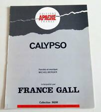 Partition sheet music MICHEL BERGER / FRANCE GALL : Calypso * 80's