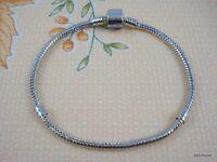 10pcs Snake Chain 18KGP /P Charm Bracelets Fit European Beads Choose Sizes P06