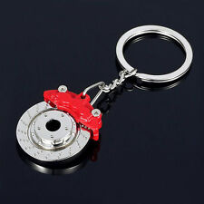NEW Red CALIPER Brake Rotor Disc Metal Alloy KEY CHAIN Ring Keychain