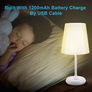 Brilex Table Lamp LED Bedside Night Light Touch & Remote Control, Battery USB