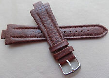 New Mens Timex Brown Padded Genuine Leather 11mm Watch Band Special Notch Ends