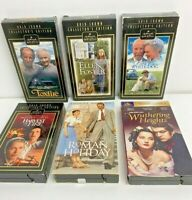 Family Viewing VHS Lot of 6 Tapes Romance Love Great Titles Color/B & W Rare