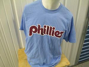 VINTAGE MLB PHILADELPHIA PHILLIES ANDREW McCUTCHEN #22 XL T-SHIRT POWDER BLUE NW