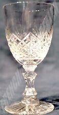 SUPERBE VERRE A VIN ROUGE cristal taillé fin XIXè déb XXè Ht 12cm