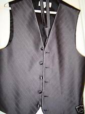 Charcoal Grey FULLBACK  tuxedo vest w/longtie XLarge
