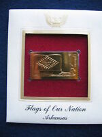 2008 Flags of our Nation Arkansas FDI Replica FDC 22kt Gold Golden Cover Stamp