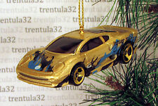 JAGUAR XJ220 GOLD BLUE BLACK SPORTS CAR CHRISTMAS TREE ORNAMENT XMAS