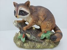 Vintage Homco Masterpiece Porcelain Raccoon Hand Painted #1247