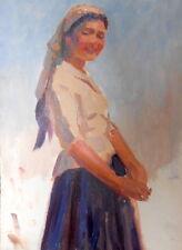 Armenian Art Gallery,Portrait,Armenia 1950s,Soviet Impressionist Oil Painting,Vi