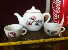 Kitchen Tea Pot and Cups Hello Kitty Porcelain Bundle x 3 Make Believe Toy