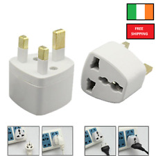 1Universal Travel Adapter AU US/CA EU to Ireland /UK3 Pin AC Power Plug Adaptor