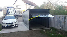 Blechgarage 2,5x5 Blechhalle Schuppe Lager Fertiggarage 4Kantprofil +Aufbau
