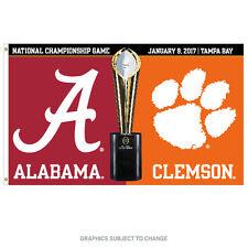 2017 Alabama vs. Clemson National Championship Dueling 3x5 Flag