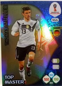 Panini ADRENALYN XL FIFA World Cup Russia 2018 TOP MASTER  GERMANY MULLER # 466