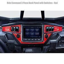 3 Piece 6 Switch Dash Panel Red fits 2017+ Polaris RZR XP1000 Ride Command Edi.