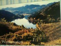 AMAZING POST CARD PATTERSON LAKE OKANOGAN COUNTY WENATCHEE WASHINGTON