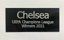 Chelsea 2021 Champions League - 110x50mm Engraved Plaque for Signed Memorabilia