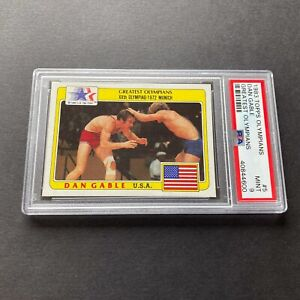Dan Gable 1983 Topps Olympians Greatest Olympians #5 RC Rookie Card PSA 9 Mint