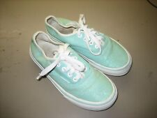 Vans Girl's Kids 1.5 Mint Green Sparkle Lace Up Low Sneakers