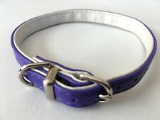 NEW Gorgeous PURPLE LEATHER COLLAR size XXS 23 - 27cm Tiny Dog Puppy Chihuahua