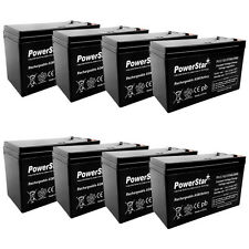 12V 8Ah Battery Replacement for PowerWare PWHR1234W2FR - 8 Pack