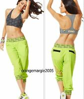 ZUMBA 2Pc.Set!! CARGO PANTS CAPRI  HIP-HOP +Gold Foil Bra~Convention HARRODS S M
