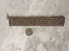 Antique filigree sterling silver victorian edwardian moroccan? bracelet