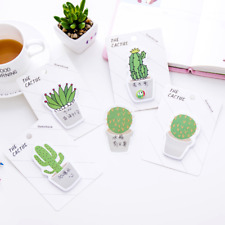 Cute Cactus Sticker Post It Bookmark Marker Flags Memo Pads Index Sticky Notes