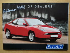 FIAT CARS official 1995 UK dealership directory brochure - Autumn 1995 edition