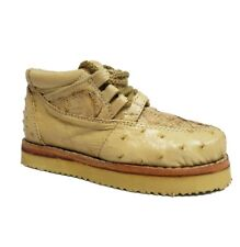 Kids Sand Crocodile Ostrich Exotic Skin Tennis Shoes Toddler Size 10
