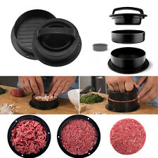 3 in 1 Stuffed Burger Press Hamburger Maker ABS Plastic Beef Patty BBQ UK