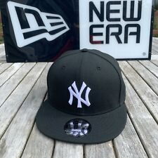 New Era New York Yankees Snapback Hat BlackWhite/USA Side Patch 9Fifty